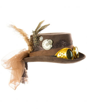 Steampunk Hat With Brown Glasses