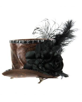 Steampunk Artificial Leather Mini Hat