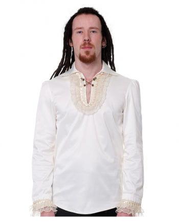 Gothic ruffled shirt beige