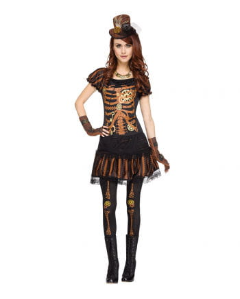 Steampunk Skeleton Woman Costume