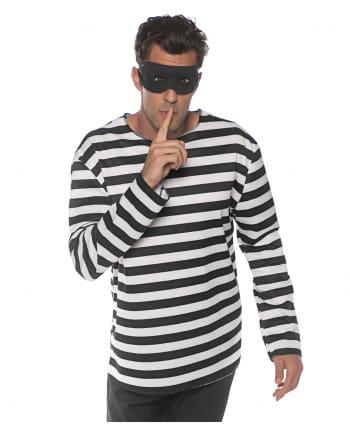 Prisoner Costume Shirt with Mask