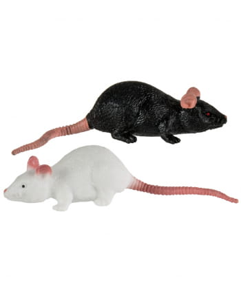 Stretch Rat 11cm - Black / White