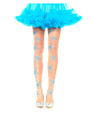Tights with snowflakes