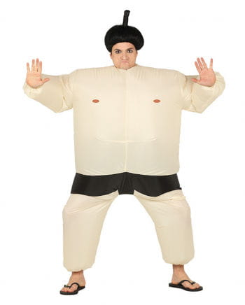 Inflatable Sumo Wrestling Costume Beige
