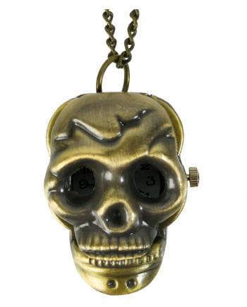 Pocket Watch Necklace Skull