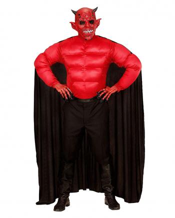 Teufel Kostum Shirt Mit Umhang Hollen Herrenkostum Horror Shop Com