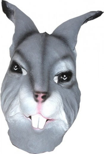 Tiermaske Hase grau