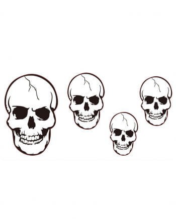 4 Skulls Cut Outs Wall Decoration