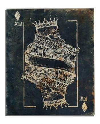Skull King of Diamonds Art Print