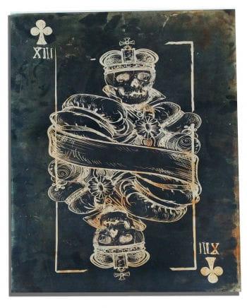 Skull Cross King Canvas Print