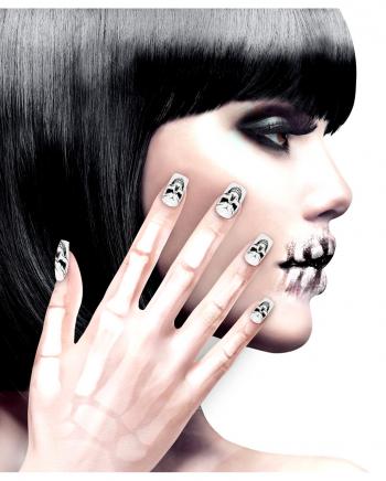 Skull Fingernails 12 Pcs.