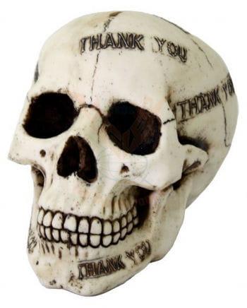 "Skull Savingsbox ""Thank you"""
