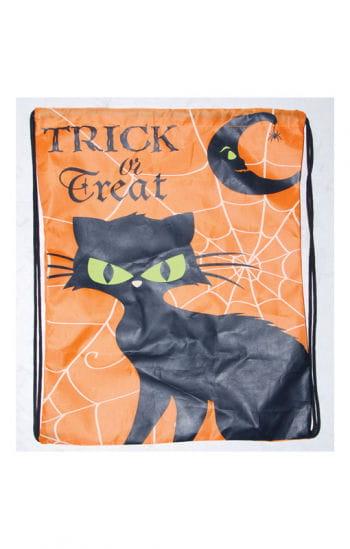 Trick or Treat Bag with Cat Motif