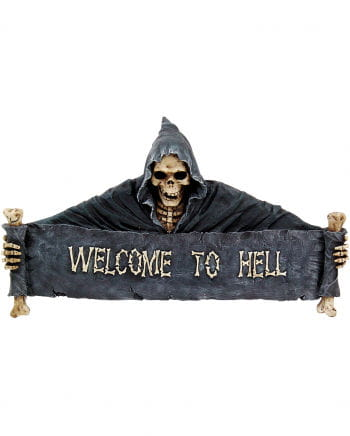 Large Door Sign Welcome to Hell