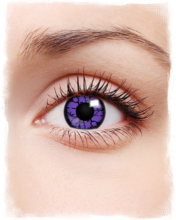 Kontaktlinsen Violettes Reptil Motiv