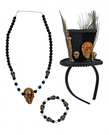 Voodoo Schamanen Kostüm Zubehör Set