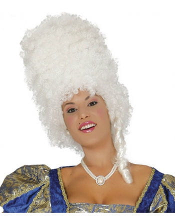 White Baroque Wig