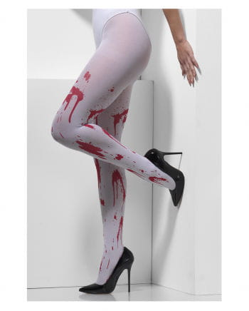 5b50e92afd853 White Pantyhose With Blood Splatters for Gothic & Halloween costumes |  horror-shop.com