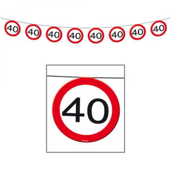 Pennant Chain Road Sign 40