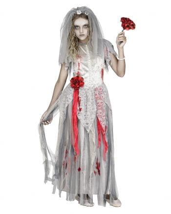 Zombie Bride Children Costume  sc 1 st  Horror-Shop.com & Zombie Bride Children Costume | Halloween costume | horror-shop.com