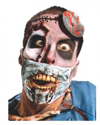 Zombie Doktor Maske mit Zähnen