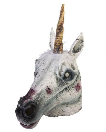 Zombie unicorn latex mask