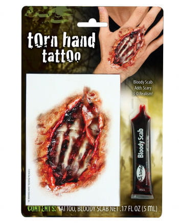 Zombie Hand Tattoo With Filmblood