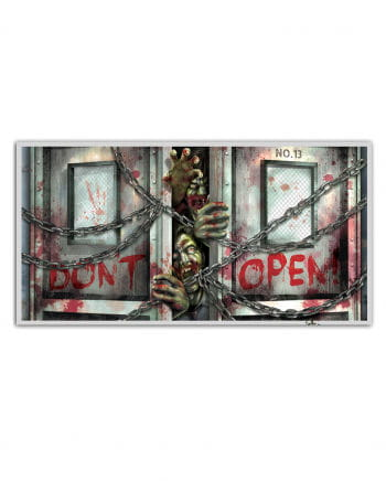 "Zombie Banner ""Don't Open"""