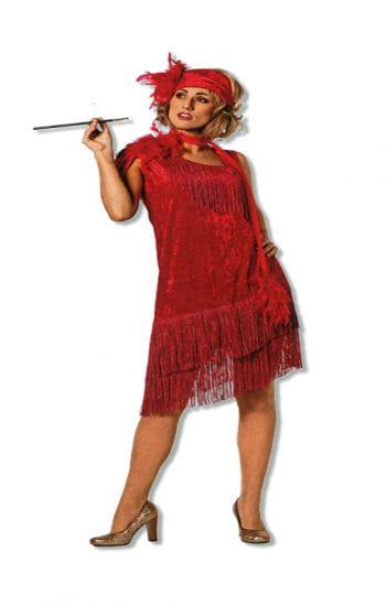 Zwanziger Jahre Kleid rot XXL