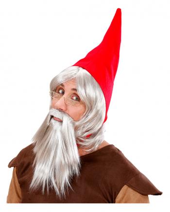 Zwergen-Set mit Mütze, Perücke und Bart