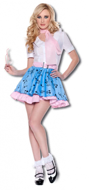 Rock n Roll Girl Premium Costume. L
