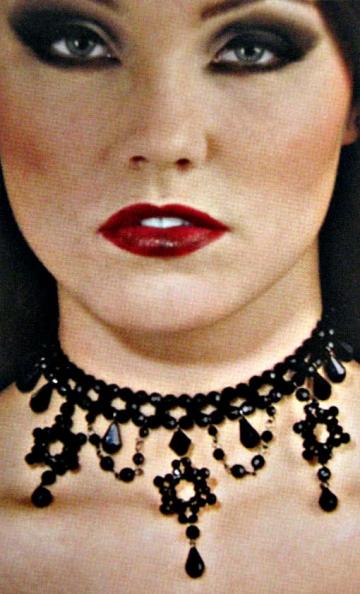 Gothic Perlenhalsband schwarz