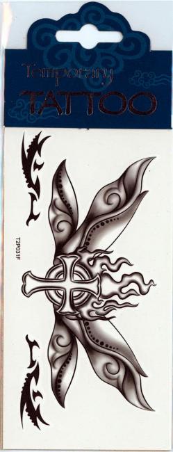 Wing Tattoo Butterfly Cross
