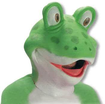 Frosch Latex Maske
