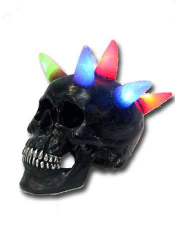 Skull with LED Mohawk