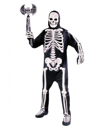 3D Skeleton Costume One Size