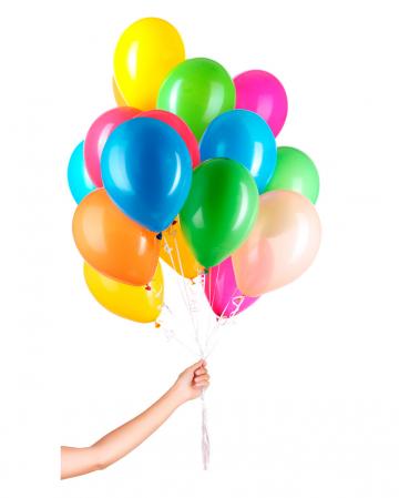 50 Latex Ballons für Helium mit Schnur