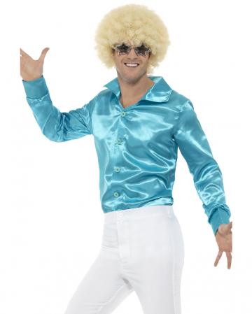 60s Disco Hemd blau