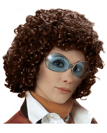 70s Curly Wig Beatrice - Braun