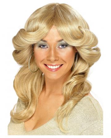 70er Jahre Perücke Agnetha blond