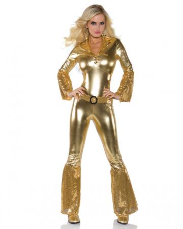 70´s Disco Diva Jumpsuit Gold