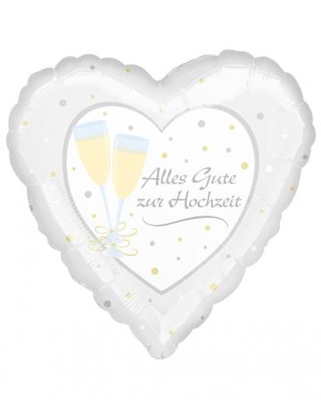 Heart Balloon Happy Wedding