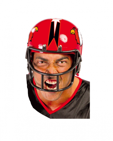 American Football Helmet Red