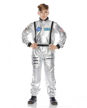 Astronaut Kinderkostüm silber