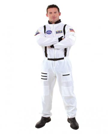 Astronauten Overall Kostüm Plus Size weiß