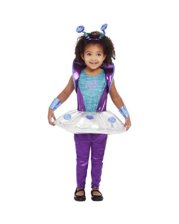 Außerirdisches Kleinkinder Kostüm Lila