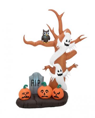 Große Geisterbaum Halloween Aufblasfigur 270 cm