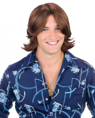 Ripped Mens Wig Brown