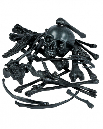 Bag Of Bones Bone Set Black 28 Pcs.