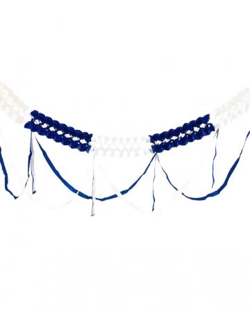Garland white-blue fringed